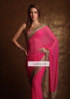 Beautiful Bridal Saree by Meena Bazaar peachesandblush #saree #indian wedding #fashion #style #bride #bridal party #brides maids #gorgeous #sexy #vibrant #elegant #blouse #choli #jewelry #bangles #lehenga #desi style #shaadi #designer #outfit #inspired #beautiful #must-have's #india #bollywood #south asain