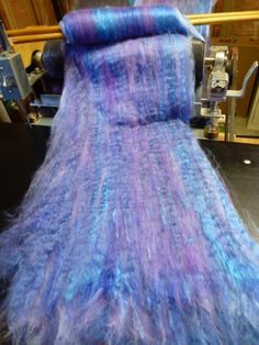 Shades of Lavender Silk Alpaca Hand Dyed by crystalcreekfibers, $20.00