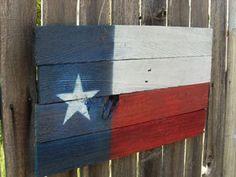 Rustic Barnwood Texas Flag by jandkoutdoors on Etsy, $15.00