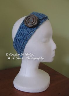 Crochet Button Headband  PATTERN ONLY by CrochetItBaby on Etsy, $2.50