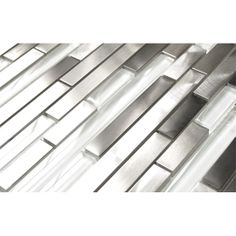 Modern Random Mix Steel - Glass II Mosaic Tile