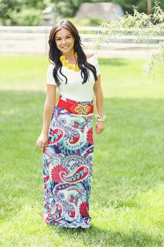Bold In Paisley Maxi skirt - Modern Vintage Boutique