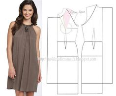 Modelagem de vestido. Fonte: https://www.facebook.com/photo.php?fbid=710017332360541set=a.262773027084976.75978.143734568988823type=1theater