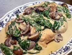 CROCKPOT ALFREDO CHICKEN WITH MUSHROOMS AND SPINACH - Linda's Low Carb Menus & Recipes