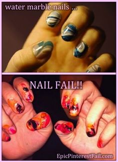 Water Marble Nails - Epic Pinterest Fail!