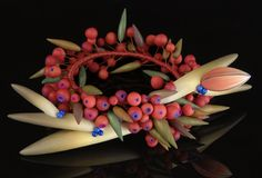 wreath, polym clay, polymer clay