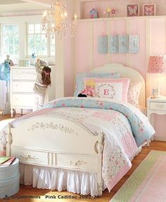 PB Kids Emma pink girls bedroom