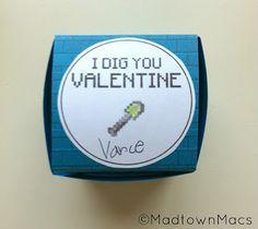 Minecraft Valentine - box instructions