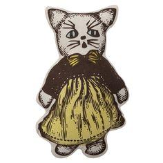 MISS KITTY PILLOW - Yellow