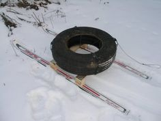 Tire and Ski Sled.... I'll have to try this....