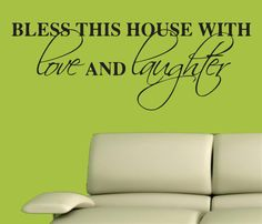 Vinyl Wall Decal Sticker  Bless this House by VinylDecalOutlet