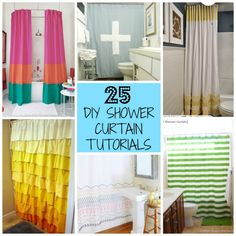 25 DIY Shower Curtains You Can Make - With Tutorials!!