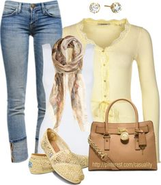"""""""Toms  Capri's"""" by casuality on Polyvore - love the whole outfit. the color is beautiful"""