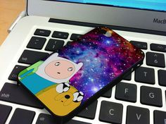Galaxy Nebula Finn and Jake 2 iPhone 5 iPhone 4 / 4S Plastic Hard Case Soft Rubber Case on Etsy, $14.79