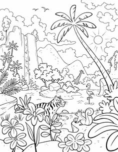 Our beautiful world! A LDS Primary coloring page from lds.org. #ldsprimary  #lds #ldsprimarry