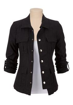 4 Pocket Military Shirt Jacket. Love