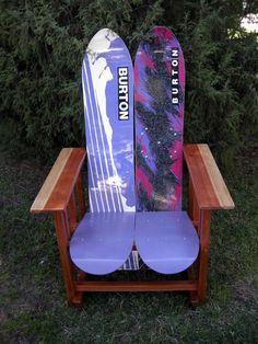 snowboard chair, diy snowboard