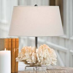 White Coral Sculpture Lamp
