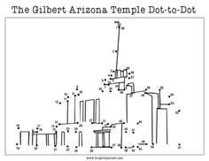 Print out the Gilbert Temple dot-to-dot for some fun for your kids! Mormon LDS awesome idea!