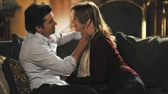 Derek and Meredith get cozy after he moves in...