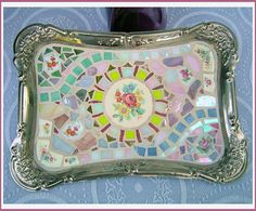 International Silver Mosaic Tray, ~by Sondra, Traders of the Lost Art 1