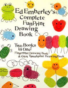 fingerprint art, books, craft, idea, drawings, draw book, emberley, fingerprints, kid