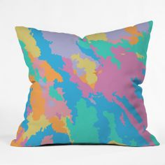 Rosie Brown Art Map Throw Pillow | DENY Designs Home Accessories #art #throw #pillow #homedecor #abstract #denydesigns