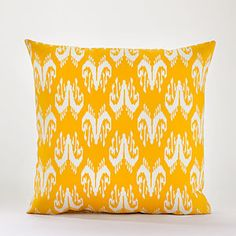 Yellow Ipanema Ikat Toss Pillow at Cost Plus World Market