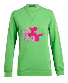 OSTWALD HELGASON - Puppy Love Appliqued Cotton Sweatshirt #ostwaldhelgason #brownsfashion