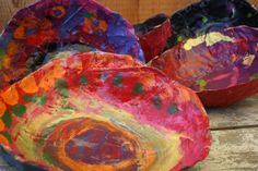 paper mache bowls for mother's day