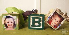 Alphabet Photo Block Ornaments