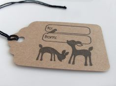 Cute Deer Kraft Paper Gift Tags