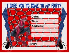 Free Spiderman Party Ideas - Creative Printables