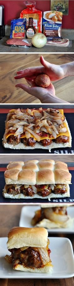 Smokey Mesquite BBQ Meatball Sliders   So easy to pull together for lunch or dinner. The whole family will love!