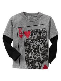 2-in-1 heart graphic T | Gap