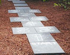 How to build a hopscotch path