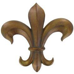 Bronze Polyresin Fleur-De-Lis Wall Plaque   Shop Hobby Lobby