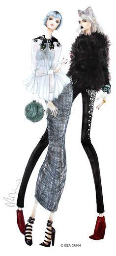 Issa Grimm fashion illustration draw, fashion sketches, fashion design, art, illustr fashion, issa grimm, fashion face illustration, fashion illustrations, fashionillustr