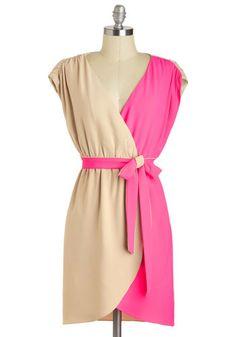 Mix and match color block dress
