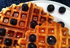 Eat • Write: Banana-maple waffles are made with healthy ingredients, and they taste great.