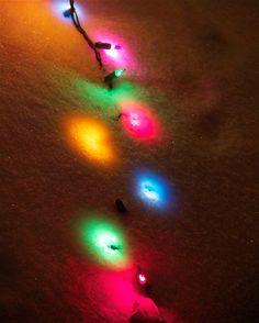 Twinkle Lights Handmade Fine Art Photograph Christmas Card No. 9429 5x7 Luxury Photo Greeting. Blank Inside with Lovely Crisp Envelope