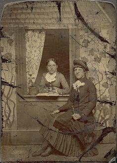 Distressed Window Setting. 1876