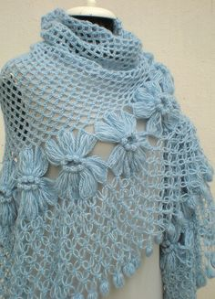 "Beautiful ""Baby Blue Shawl""!"