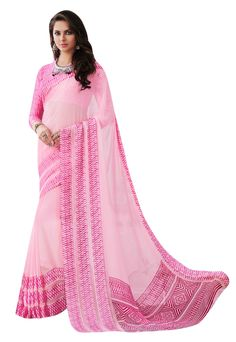 Baby pink georgette