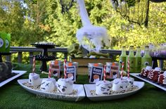 Zombie Party Table by Not just a Mommy #halloween