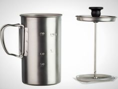 This is the perfect French press to take camping.