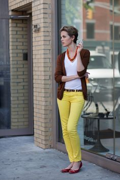 I want another pair of yellow jeans.