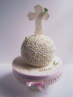 Niki's First Communion Cake by Tea Party Cakes (4/29/2012)  View cake details here: http://cakesdecor.com/cakes/13942