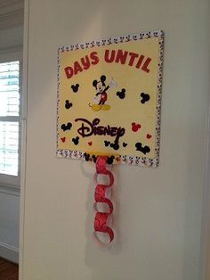 Make Your Own Disney World Countdown Chain
