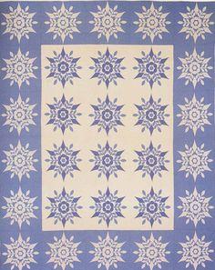 Snowflake Applique quilt, 1941. Made by Emily Allen Kain. York Co, Pennsylvania.